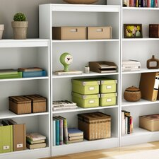 Axess Four Shelf Bookcase in Pure White