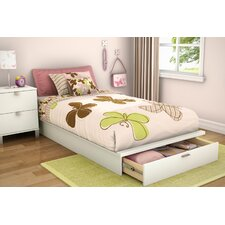 Twin Platform Bed with Drawer