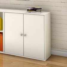 Stor It Two Door Four Cubby Storage Unit in Pure White