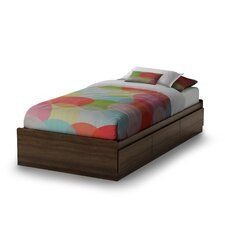 Sebastian Distressed Twin Mate's Bed Box with Storage