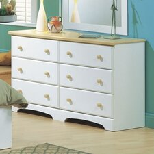 Newbury 6 Drawer Double Dresser