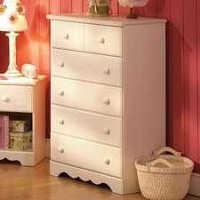 Summer Breeze White Wash 5-Drawer Chest