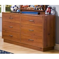 Logik Double 6-Drawer Dresser