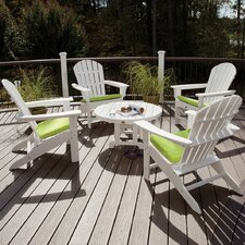<strong>Trex Outdoor</strong> Trex Outdoor Cape Cod 5 Piece Adirondack Conversation Group with Cushion