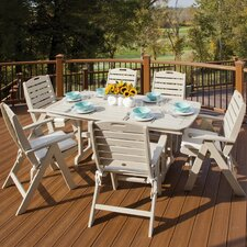 Trex Outdoor Yacht Club 7 Piece Dining Set with Cushion