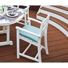 <strong>Trex Outdoor</strong> Trex Outdoor Monterey Bay Counter Height Chair with Cushion