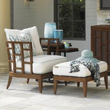 <strong>Tommy Bahama Outdoor</strong> Ocean Club Resort Lounge Chair and Ottoman with Cushions