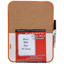 "Combination 8"" x 8"" Whiteboard and Bulletin Board"