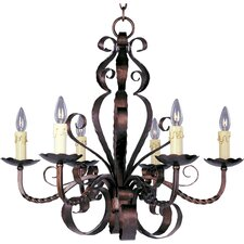 <strong>Maxim Lighting</strong> Aspen 6 Light Candle Chandelier