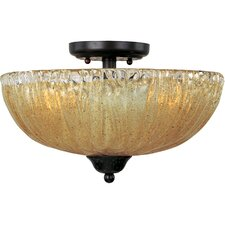 <strong>Maxim Lighting</strong> Barcelona 3 Light Semi Flush Mount