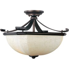<strong>Maxim Lighting</strong> Oak Harbor 2 Light Semi Flush Mount
