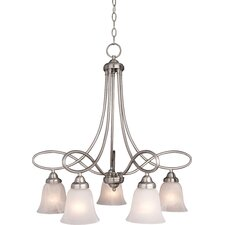 Zelo 5 - Light Down Light Chandelier