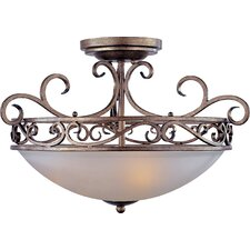 Phirce 3 - Light Semi - Flush Mount