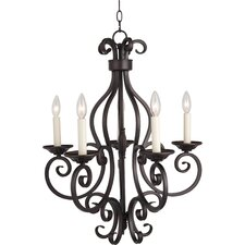 Manor 5 Light Candle Chandelier