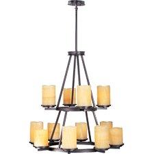Songo 12 - Light Multi - Tier Chandelier