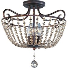 Adriana 3 Light Semi Flush Mount