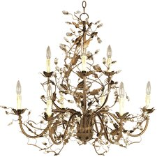 Elegante 9 Light Candle Chandelier