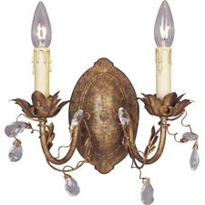 Elegante 2 Light Candle Wall Sconce