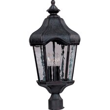 "Garden VX 3 Light 24"" Outdoor Post Lantern"