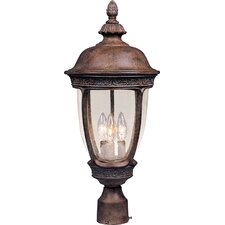 "Knob Hill VX 3 Light 28"" Outdoor Post Lantern"
