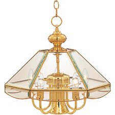Bound Glass 6 Light Single-Tier Chandelier