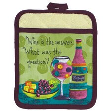 <strong>Kay Dee Designs</strong> Wine or Grapes Design Pocket Oven Mitt