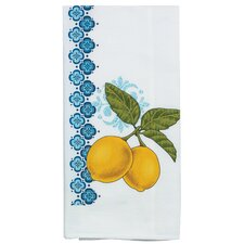 Lemon and Olive Flour Sack Kitchen Towel