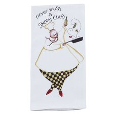 <strong>Kay Dee Designs</strong> Never Trust a Skinny Chef Flour Sack Kitchen Towel