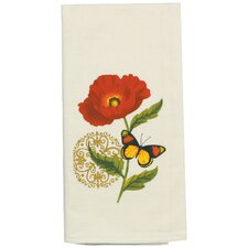 Poppies Design Flour Sack Kitchen Towel
