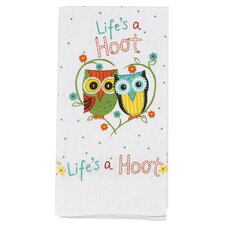 <strong>Kay Dee Designs</strong> Life's a Hoot Flour Sack Kitchen Towel