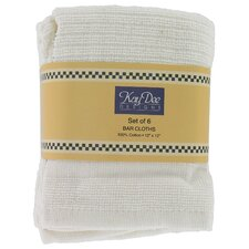 "12"" x 12"" Bar Cloth Towel (Set of 6)"