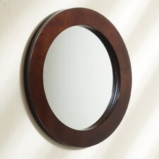 Northfield Elite Round Mirror in Espresso