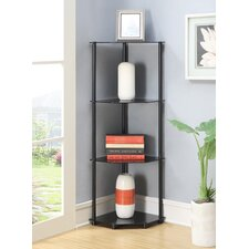 Midnight 4 Tier Corner Shelf in Black