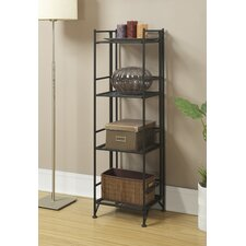 XTRA Storage 4 Tier Folding Shelf in Black