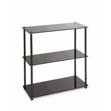 Midnight 3 Shelf Bookcase in Black
