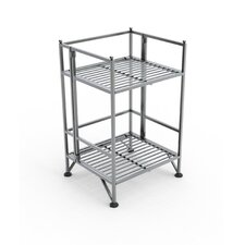 XTRA Storage 2 Tier Folding Shelf in Silver