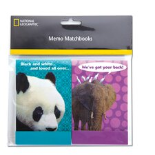 "3"" x 5"" 2 Count National Geographic Memo Matchbook"