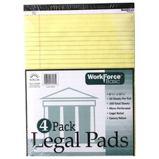 50 Sheets Perforated Legal Pads 4 Count