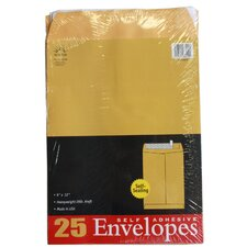 <strong>Norcom Inc</strong> 25 Count Kraft Envelopes