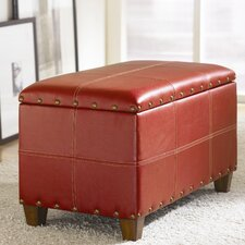 Hidden Treasures Trunk in Distressed Red