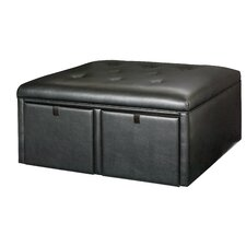Hidden Treasures Leather Cocktai Ottoman
