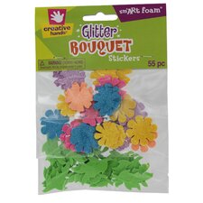 <strong>Fibre-craft Materials Corp</strong> Glitter Sticker Bouquet (55 Count)