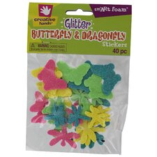 Butterfly Glitter Sticker (40 Count) (Set of 3)
