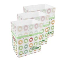 Party Pattern Trash Can and Recycling Bin (Set of 3)