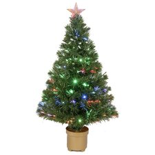 3' Green Artificial Christmas Tree with 20 LED Lights with Stand