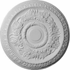 "<strong>Ekena Millwork</strong> Cambridge 17.63"" H x 17 5/8"" W x 1.13"" D Ceiling Medallion"