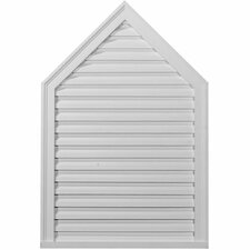 "18"" H x 12"" W x 1.75"" D Peaked Gable Vent"