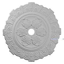 "<strong>Ekena Millwork</strong> 33.25"" H x 33 1/4"" W x 1"" D Scroll Medallion"