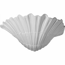 """Shell 6.63"""" H x 11.38"""" W x 7.13"""" D Wall Sconce"""