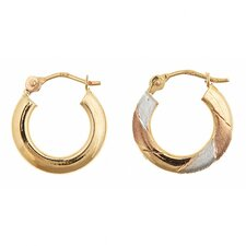 Reversible Tri-Color Hoop Earrings